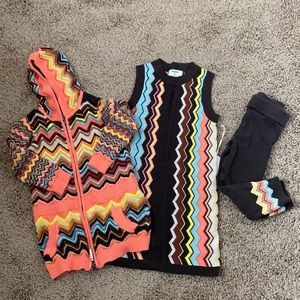 Missoni for Target girls' zig zag pattern outfit